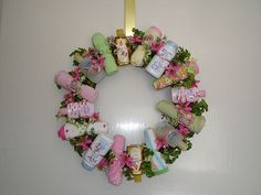 Baby lotion, soap, and washcloth wreath by FloralShowers.com, via Flickr