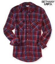 Long Sleeve Graphic Plaid Woven Shirt - Aéropostale®