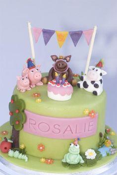 Mooi ontwerp voor een verjaardagstaart! Of wil je een koekjeskaart versturen?  -www.dekoekenbakkers.com-