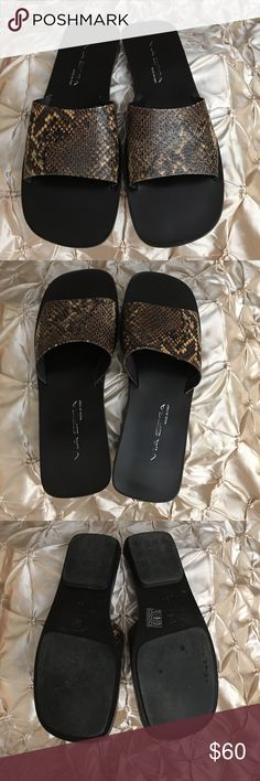 VIA SPIGA Snake Print Slides VIA SPIGA Snake Print Slides Via Spiga Shoes Sandals