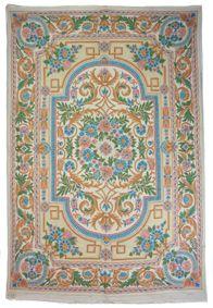 handbestickte Kettenstich Kaschmir Teppich No:1