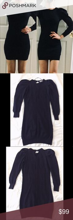 """🔥TREND🔥NEW ZARA PUFF SLEEVES SLIM SWEATER DRESS NEW ZARA BLACK SWEATER DRESS. Never worn, excellent condition. Puffy statement sleeves with slim fit bodycon dress. Soft and cozy! 🐻 SUPER STRETCHY cotton blend material. Total length: 32"""", pit to pit: 16"""" across, waist: 13"""" across, hip: 15.5"""" across. Feel free to ask any questions if you have. Thank you🙏 Zara Dresses"""