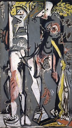 Two by Jackson Pollock, Guggenheim Museum Size: cm Medium: Oil on canvas The Solomon R. Guggenheim Foundation Peggy Guggenheim Collection, Venice, 1976 © 2016 The Pollock-Krasner Foundation/Artists Rights Society (ARS), New York Willem De Kooning, Jackson Pollock, Action Painting, Painting & Drawing, Drip Painting, Pablo Picasso, Wyoming, Pollock Paintings, Franz Kline