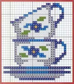 Посудное ... 14 схем для вышивки крестом. Обсуждение на LiveInternet - Российский Сервис Онлайн-Дневников