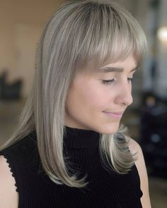 Haven't you found a good match for your bangs? Then consider this medium length dirty blonde hair with bangs created by BIT OF FLIT (@bitofflit). Visit our website to get more ideas on medium hairstyles with bangs. #mediumlengthhairstyles #mediumhairstyleswithbangs #hairwithbangsmedium