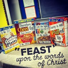 """""""Feast"""" upon the words of Christ. To FEAST: find, explain, apply, share, and testify."""