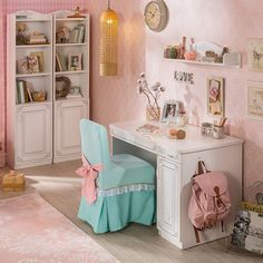 Pink Toddler Rooms, Vanity, Mirror, Furniture, Home Decor, Vanity Area, Homemade Home Decor, Lowboy, Decoration Home