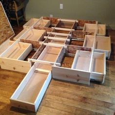 Great idea to use some extra drawers!