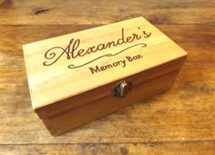 Personalised engraved wooden box  Wooden Memory Box by MakeMemento #engraved #engravedgifts #giftideas #christmasgifts #giftsforhim #giftsforher #personalisedgifts #jewellery #woodenbox #keepsakebox #weddingbox #wedding