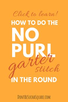 No purl garter stitch in the round, is that possible? I have tested two methods for knitting the garter stitch on circulars, without the purls! Round Loom Knitting, Knitting Short Rows, Knitting Patterns, Knitting Tutorials, Baby Knitting, Stitch Patterns, Crochet Patterns, Purl Stitch, Seed Stitch