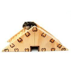 Casinha para Hamster Casa Roedores Pirâmide Cia Dos Coelhos - MeuAmigoPet