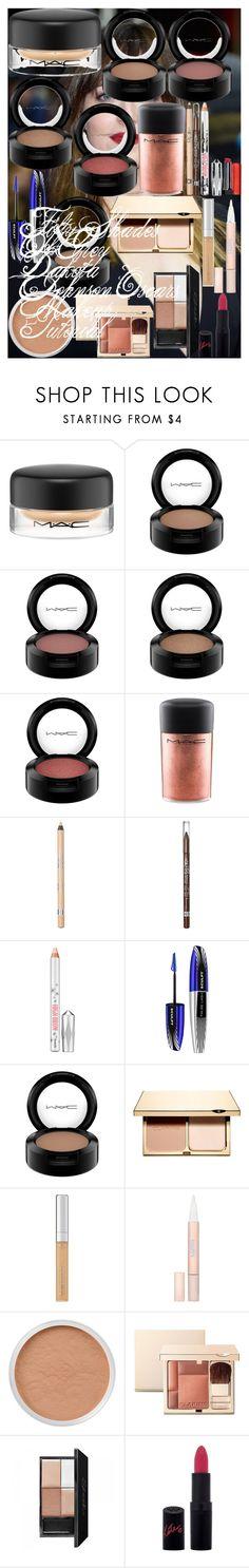 Fifty Shades Of Grey Dakota Johnson Oscars Makeup Tutorial by oroartye-1 on Polyvore featuring beauty, Clarins, MAC Cosmetics, Bare Escentuals, L'Oréal Paris, Rimmel and Revlon