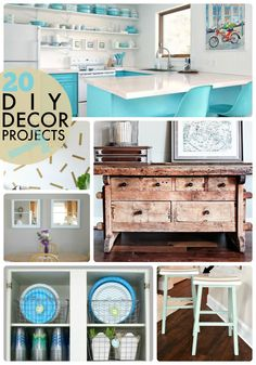 20 DIY Decor Projects! -- Tatertots and Jello  So many great ideas perfect for Spring!