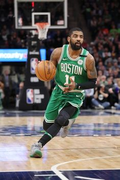 boston celtics - 4 Stars & Up Basketball Jones, Kyrie Basketball, Celtics Basketball, Custom Basketball, Basketball Is Life, Basketball Legends, Basketball Players, Lebron James Kyrie Irving, Kyrie Irving Celtics