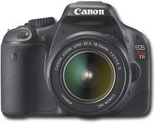 Canon EOS Rebel T2i.  Great camera for the price.