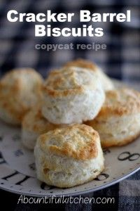 Copycat Recipes From Top Restaurants. Best Recipe Knockoffs from Chipotle, Starbucks, Olive Garden, Cinabbon, Cracker Barrel, Taco Bell, Cheesecake Factory, KFC, Mc Donalds, Red Lobster, Panda Express  |   Cracker Barrel Biscuits Copycat Recipe  | http://diyjoy.com/copycat-recipes