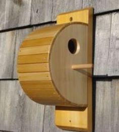Custom Made Cedar Strip Bird House Homemade Bird Houses, Bird Houses Diy, Bird House Plans, Bird House Kits, Bird House Feeder, Bird Feeders, Modern Birdhouses, Birdhouse Designs, Wood Bird