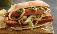 Italian Sausages  Our all-natural smoked Italian Sausage is made from select cuts of pork and features red and green bell peppers, paprika and other natural spices just like the neighborhood butcher used to make. Serve on a bun with roasted red peppers. Cut up and serve with pasta and marinara sauce. Slice diagonally and serve as an appetizer. Serve them up any night of the week for a quick, delicious meal!  Shop now…