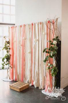 Ribbon Wall Photo Booth Backdrop.