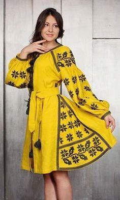 SamaFaina Vyshyvanka Ukrainian beauty folk fashion Diy Dress, Boho Dress, Dress Outfits, Fashion Dresses, Folk Fashion, Ethnic Fashion, Classy Outfits, Stylish Outfits, Simple Kurti Designs