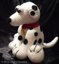 Picolo the Dalmatian Crochet Pattern by CrochetParadise on Etsy, $5.50