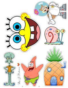 Superhero Cupcake Toppers, Birthday Cake Toppers, Baby Cartoon, Cartoon Pics, Spongebob Painting, Spongebob Birthday Party, Spongebob Square, Little Girl Birthday, Lol Dolls