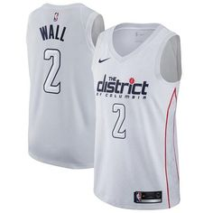 Nike Wizards  2 John Wall White NBA Swingman City Edition Jersey 834fd7a85