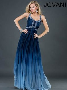 Turquoise ombre long gown. 4980