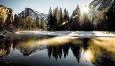 Half Dome in Yosemite N.P. by Bon Koo