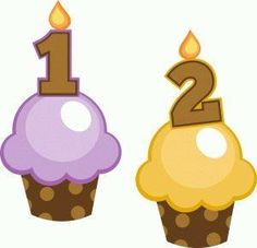 Silhouette Design Store - View Design birthday cupcakes 1 and 2 Birthday Clips, Birthday Board, Diy And Crafts, Crafts For Kids, Paper Crafts, Cupcake Illustration, Cupcake Collection, Silhouette Online Store, Cupcake Art