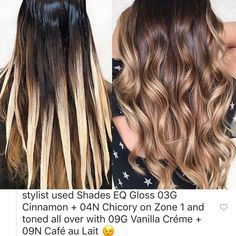 Balayage Ombré, Balayage Hair Blonde, Brown Blonde Hair, Dark Hair, Haircolor, Love Hair, Great Hair, Redken Hair Color, Balayage Hair Tutorial