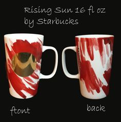 #Starbucks coffee mug 16 fl oz Rising Sun Do Not Microwave Hand Wash collectible visit our ebay store at  http://stores.ebay.com/esquirestore