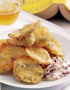 Tempura de pommes de terre à l'estragon #recette #facile