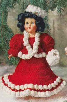 Mary Christmas doll crochet pattern from Crochet For Christmas | Star Book 94