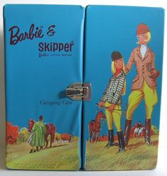 Vintage Barbie c. 1964 Barbie & Skipper Barbie's little sister (equistrienne) Carrying Case
