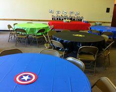 superhero / comic book birthday party cape tables . . . free printable!