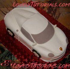 Торт машина Porsche-Carved 3D Porsche car cakes - Мастер-классы по украшению тортов Cake Decorating Tutorials (How To's) Tortas Paso a Paso