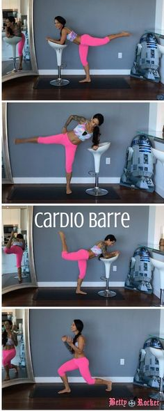 Join me for this low-impact (high intensity) cardio barre workout and focus on toning and tightening your butt, legs and core. Get the full workout on my blog: http://thebettyrocker.com/cardio-barre-workout/