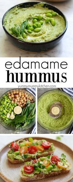 Edamame Hummus How to make delicious and healthy edamame hummus without tahini. This easy edamame hummus is a great source of plant-based protein and a delicious party dip hummus or spread for hummus wraps and veggie sandwiches. I love making this edamame Vegetarian Recipes, Cooking Recipes, Healthy Recipes, Cooking Ideas, Cooking Pasta, Steak Recipes, Fish Recipes, Delicious Healthy Food, Healthy Snacks Vegetarian