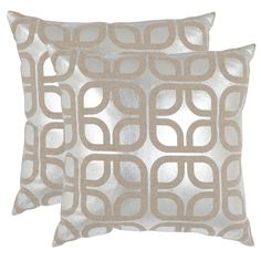 Safavieh Cole 18-inch Square Throw Pillows