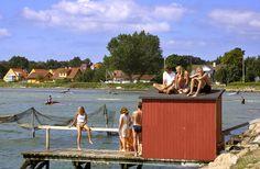 Dejlig sommerdag på Rørvig havn i Odsherred med badning i Isefjorden