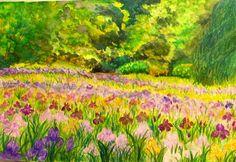 GALERIA PALOMO MARIA: LIRIOS EN FLOR... Painting, Art, Flower, Water Colors, Paintings, Irises, Art Background, Painting Art, Kunst