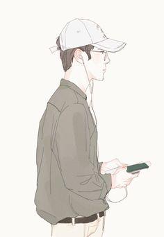 #sehun #fanart Exo Anime, Anime Guys, Manga Anime, Anime Art, Sehun, Character Illustration, Illustration Art, Exo Fan Art, Kim Jongdae