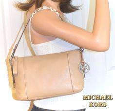 5fca57e9058735 MICHAEL KORS Leather Shoulder Bag Dk Khaki Purse NWT #MichaelKors  #Satcheltotebagshoulderbag Handbag Sale,