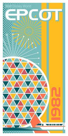 Items similar to Walt Disney World Epcot - giclee on Etsy x Giclee print. Illustrated design depicting Epcot of Walt Disney World. Original art created using Adobe Illustrator. Printed on Retro Disney, Vintage Disney Posters, Cute Disney, Disney Disney, Vintage Disneyland, Retro Posters, Walt Disney World, Disney Parks, Disney Worlds