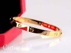 Free shipping-Cartier Inspired Love Bracelet with Screwdriver /Titanium steel 18 k diamond bracelet/ Highest Quality by Happygou