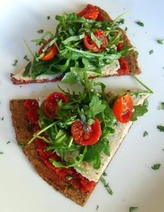Raw Vegan Sun-Dried Tomato & Cashew-Basil Ricotta Pizza. Oh yeah! - Liver cleansing raw food diet recipes. Learn how to do a liver flush https://www.youtube.com/watch?v=e2SxDemOO54 I LIVER YOU