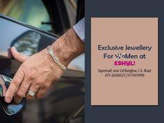 Exclusive Jewellery for Men at Eshyl! Address: Shop no 12 - Supermall, near Lal Bunglow, C.G. Road, Ahmedabad. Contact: 079-26560925   9375419990  #Fashion #jewellery #accessories #MensJewellery #Rings #Bracelets #Chains #Cufflinks #silverjewellery #ESHYL #cityshorahmedabad