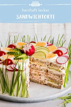 Sandwich Torte, Toast Sandwich, Party Finger Foods, Snacks Für Party, Appetizer Recipes, Salad Recipes, Healthy Recipes, Brunch Party, Appetisers
