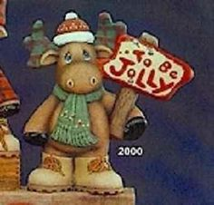 CERAMIC BISQUE TO BE JOLLY CHRISTMAS MOOSE~U PAINT